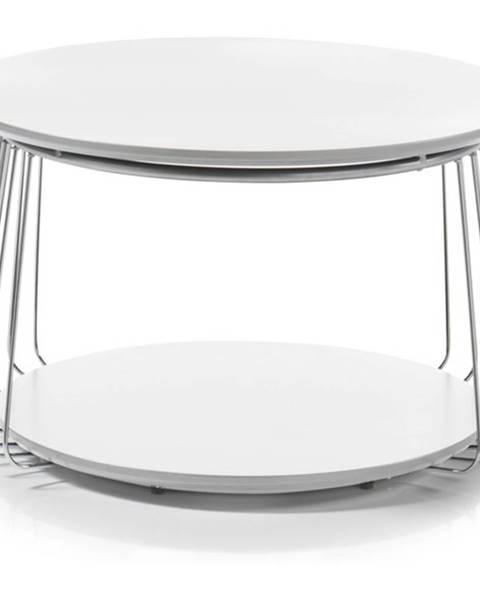 Sconto Prístavný stolík VENUTO biela, 70 cm