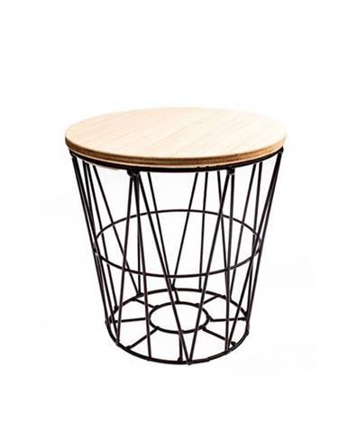 Odkladací stolík REA 20 cm, čierna