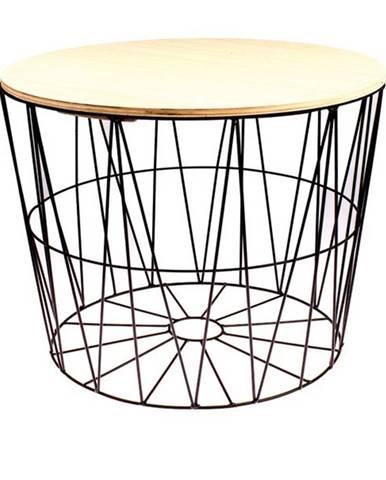 Odkladací stolík REA 50 cm, čierna