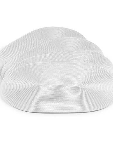 Jahu Prestieranie Deco ovál biela, sada 4 kusov, 30x45 cm