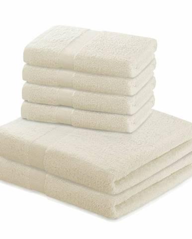 DecoKing Sada uterákov a osušiek Marina krémová, 4 ks 50 x 100 cm, 2 ks 70 x 140 cm