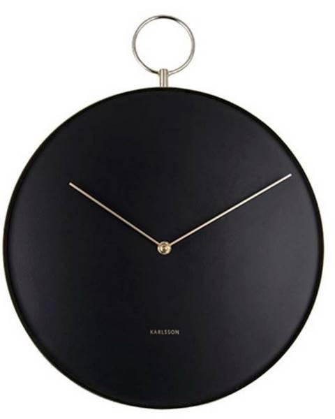 Karlsson Karlsson 5765BK dizajnové nástenné hodiny, pr. 34 cm