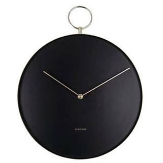 Karlsson 5765BK dizajnové nástenné hodiny, pr. 34 cm