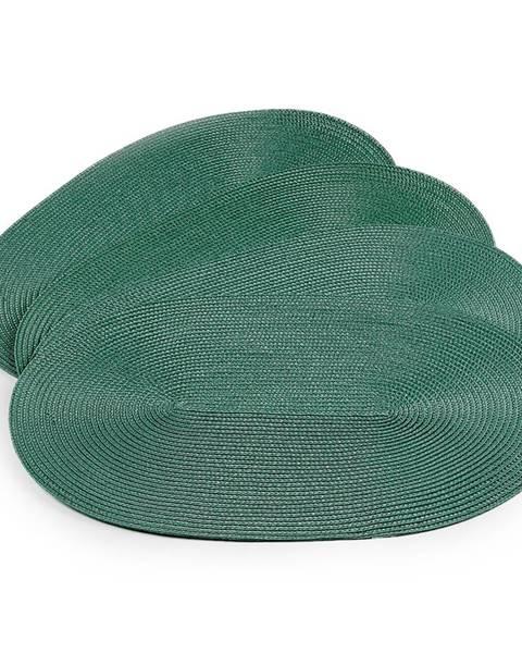 Altom JAHU Prestieranie Deco ovál trávovo zelená, 30 x 45 cm, sada 4 ks