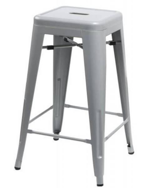 ArtD ArtD Barová stolička Paris 75cm inšpirovaná Tolix sivá