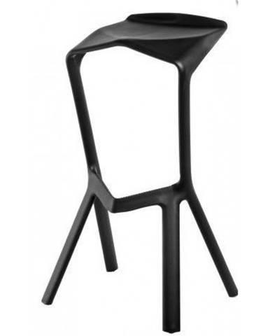 ArtD Barová stolička MU inšpirovaná Miura čierna