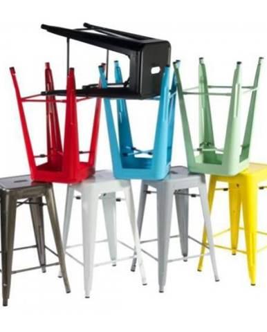 ArtD Barová stolička Paris 66cm inšpirovaná Tolix metalická