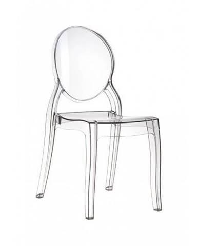 ArtD Jedálenská stolička Mia transparentná