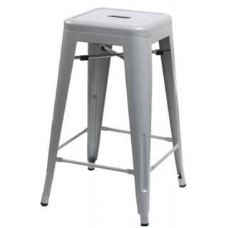ArtD Barová stolička Paris 75cm inšpirovaná Tolix sivá