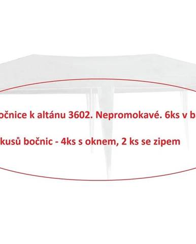 ArtRoja bočnice k altánku 3602 - 6ks - BIELA