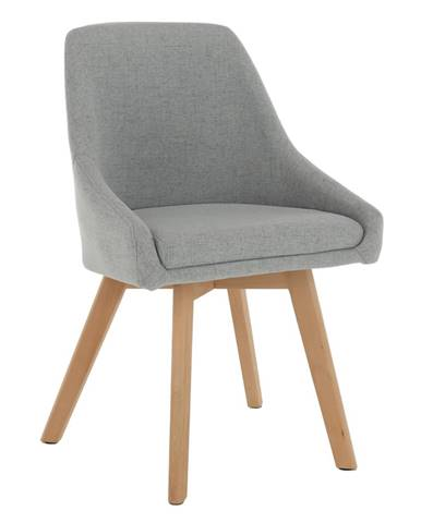 Jedálenská stolička sivá látka/buk TEZA