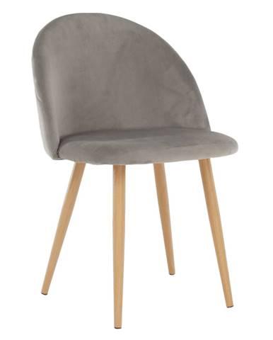 Jedálenská stolička svetlosivá Velvet látka FLUFFY
