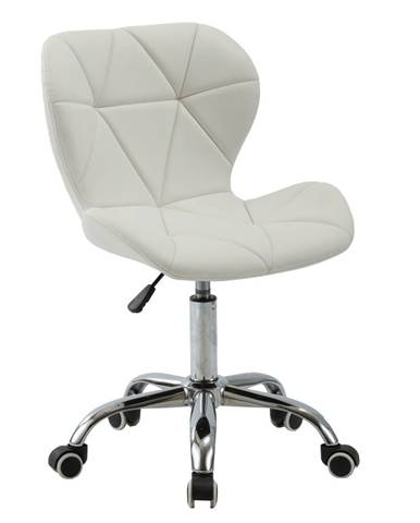 Kancelárske kreslo biela/chróm ARGUS