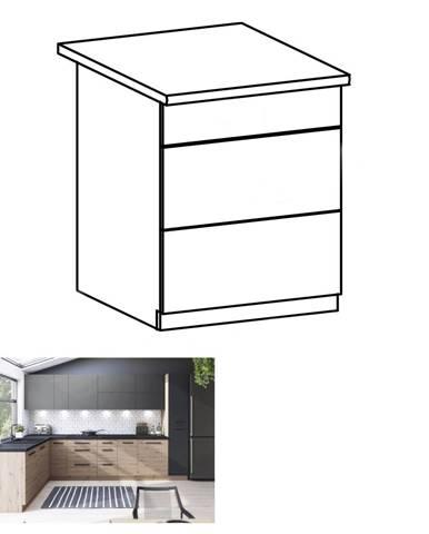 Spodná skrinka dub artisan s otváraním PUSH UP LANGEN D60S3