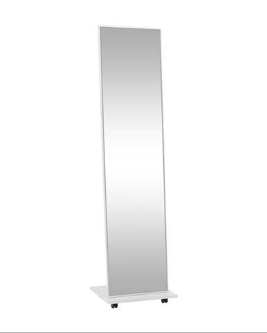 Zrkadlo na kolieskach biela NEPTUN