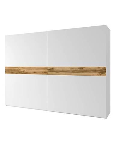 2- dverová skriňa biela/dub wotan NAGAMA rozbalený tovar