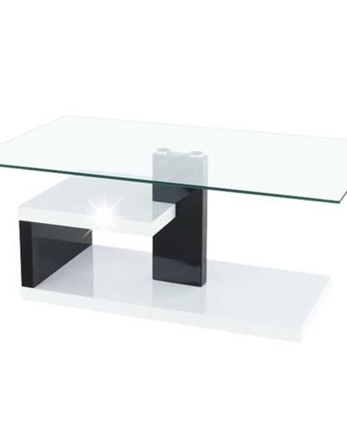 Konferenčný stolík biela extra vysoký lesk HG/čierna extra vysoký lesk HG LARS NEW rozbalený tovar