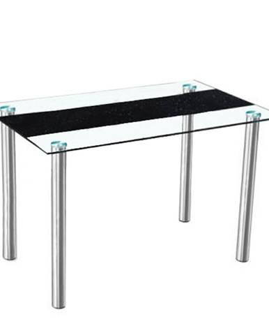 Jedálenský stôl oceľ/sklo ESTER