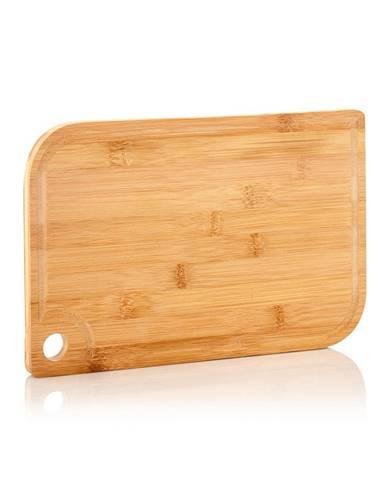 Klarstein Batvik, bambusová doska na krájanie, 33 × 1,5 × 23 cm (Š × V × H), šetrná k nožom, drážka na zachytenie šťavy
