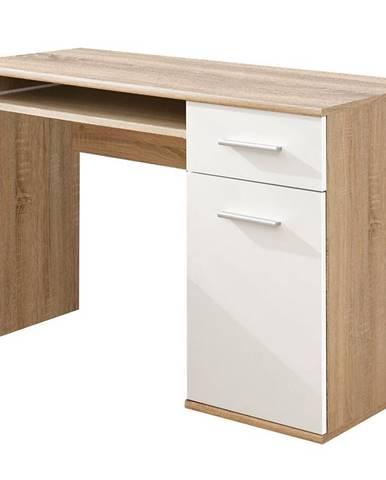 Písací stôl Dino dub sonoma/biely