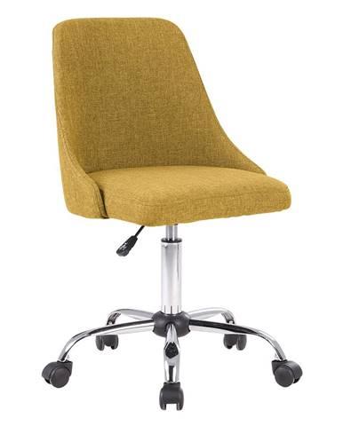 Kancelárska stolička žltá/chróm EDIZ