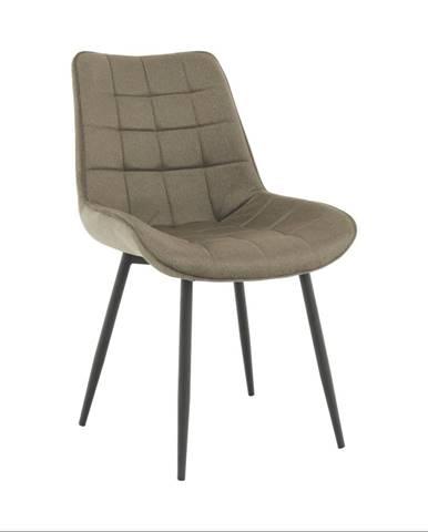 Stolička sivohnedá taupe/čierna SARIN