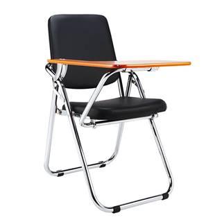 Stolička s doskou na písanie čierna/prírodná SONER poškodený tovar