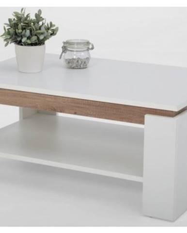 Konferenčný stolík Tim 2, biela/divoký dub%
