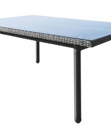 Záhradný jedálenský stôl Java 160x100 cm, antracitový%