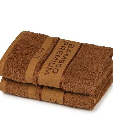 4Home Bamboo Premium uterák hnedá, 50 x 100 , sada 2 ks