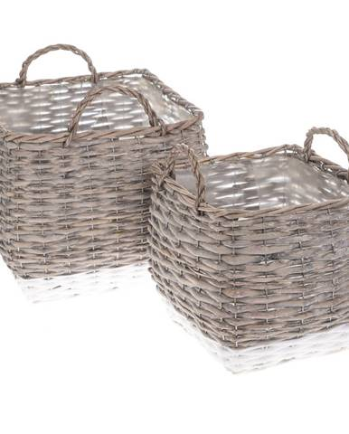 Sada prútených košíkov - obalov na kvetináč Kasterlee, 2 ks