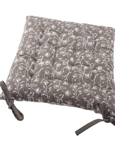Sedák na stoličku Zara sivá, 40 x 40 cm