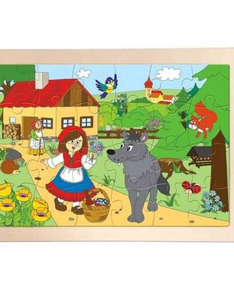 Woody Woody Drevené puzzle Červená čiapočka