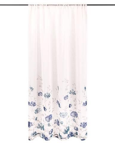 4Home Záves Floral modrá, 140 x 245 cm