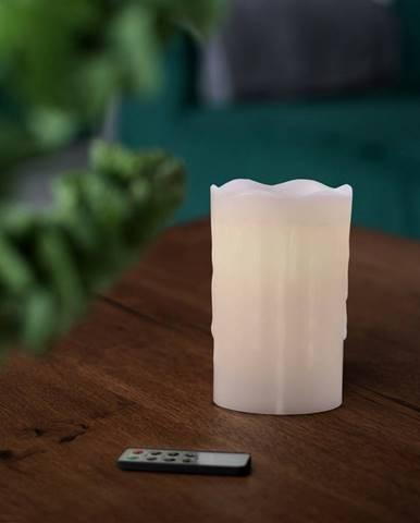 Vosková LED sviečka s diaľkovým ovládačom, 8 x 12,5 cm
