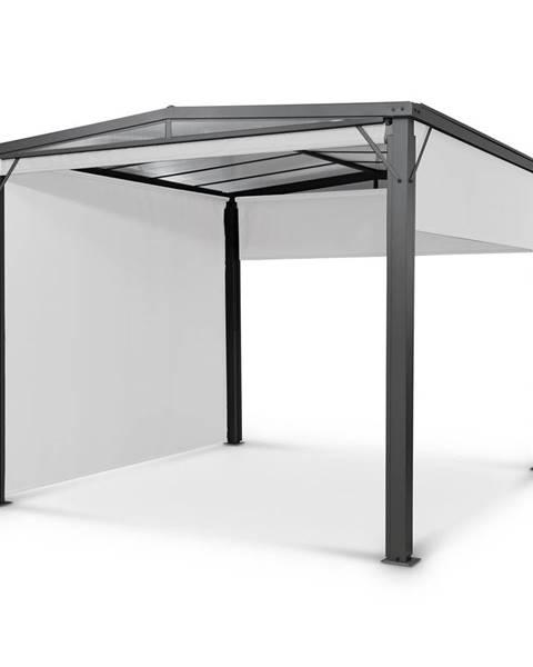 Blumfeldt Blumfeldt Pantheon Cortina Solid Sky, pergola, prístrešok, 3 × 3 m, polykarbonát