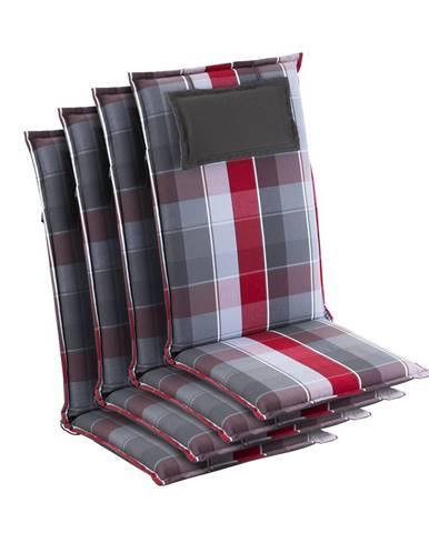 Blumfeldt Donau, čalúnenie, čalúnenie na stoličku, vysoké operadlo, záhradná stolička, polyester, 50x120x6cm