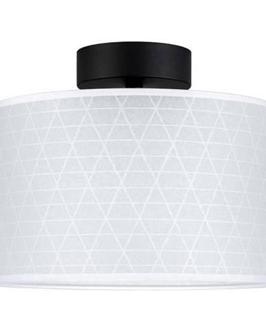 Biele stropné svietidlo so vzorom trojuholníkov Sotto Luce Taiko
