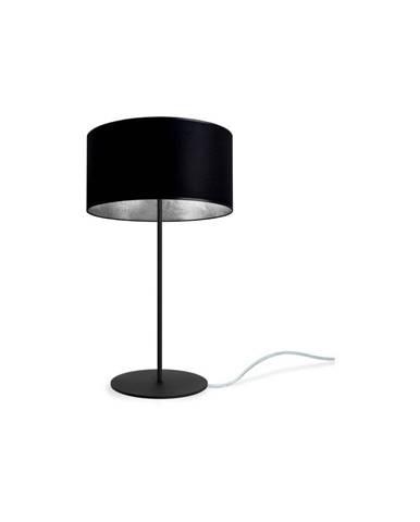 Čierno-strieborná stolová lampa Sotto Luce MIKA M 1T