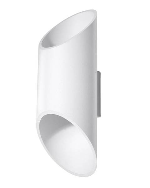 Nice Lamps Biele nástenné svietidlo Nice Lamps Nixon, dĺžka 30 cm