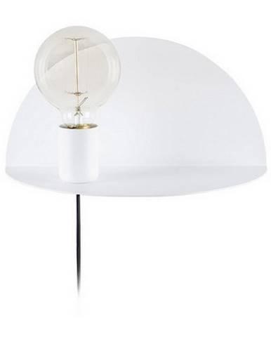 Biele nástenné svietidlo s poličkou Homemania Decor Shelfie, dĺžka 15 cm