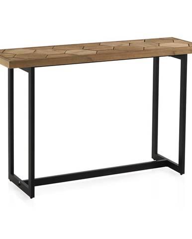 Konzolový stôl s čiernou železnou konštrukciou Geese Honeycomb