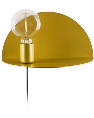 Nástenné svietidlo s poličkou v zlatej farbe Homemania Decor Shelfie, dĺžka 15 cm