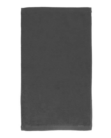Tmavosivý bavlnený uterák Boheme Alfa, 30 x 50 cm