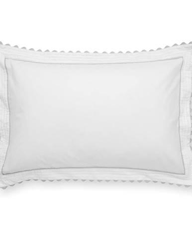 Biela obliečka na vankúš z egyptskej bavlny Bianca Ric Rac, 50 x 75 cm
