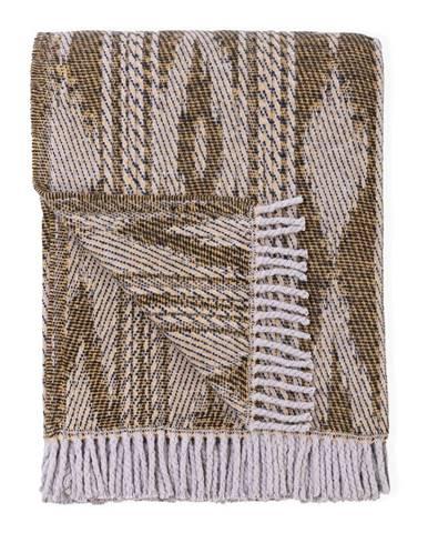 Svetlohnedý pléd s podielom bavlny Euromant Zanzibar, 140 x 180 cm