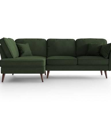 Zelená rohová pohovka My Pop Design Auteuil, levý roh