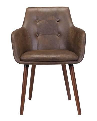 Hnedá jedálenská stolička s podnožím z dreva gumovníka Actona Johannesburg