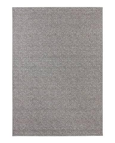 Sivý koberec vhodný aj do exteriéru Elle Decor Bloom Croi×, 80 x 150 cm