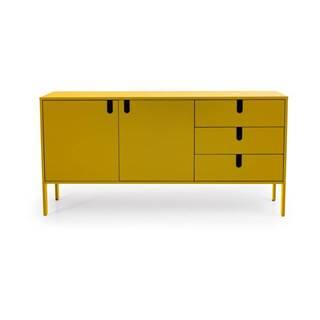 Žltá komoda Tenzo Uno, šírka 171 cm
